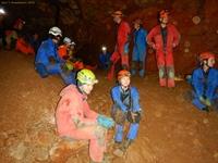W końcowej sali jaskini Vass Imre